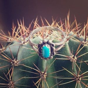 Vintage Sterling & Turquoise Ring